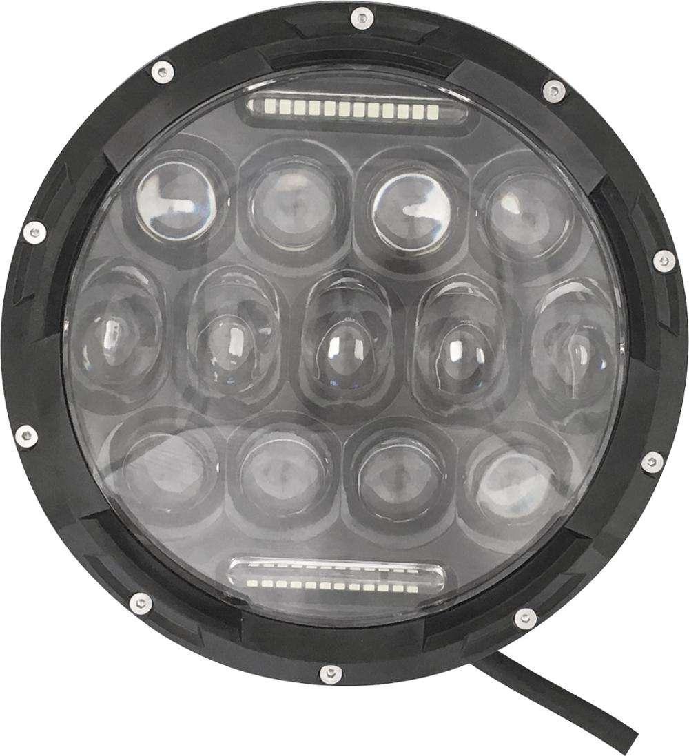 Emark 7 дюймов круглый светодиодные фары запечатанных высокая/низкая Ангел света Глаза для Jeep/Wrangler/harley /сначала