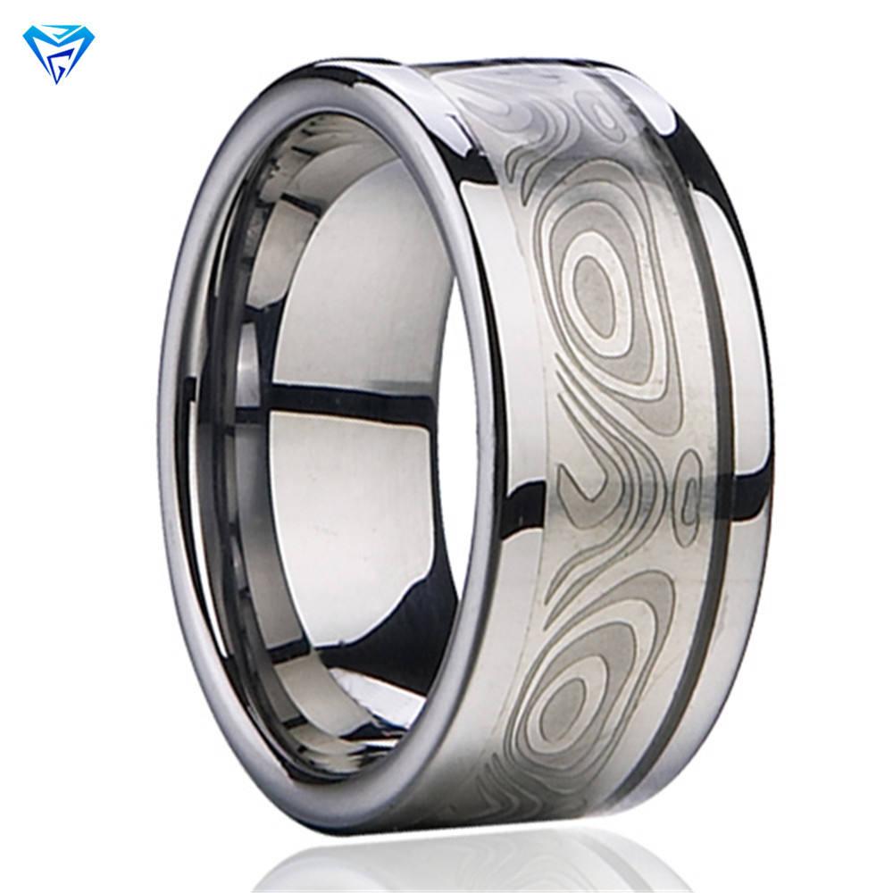 Zhuzhou завод Различные размеры Модные женские вольфрам карбида кольцо Дизайнер Большой кольца сердцебиение инкрустация