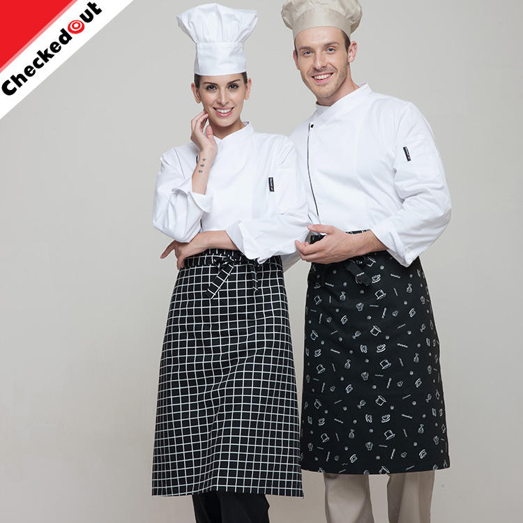 L'ultimo stile half-length lungo <span class=keywords><strong>grembiule</strong></span> unisex sicuro cucina quadrato stampa <span class=keywords><strong>grembiule</strong></span> per la cucina