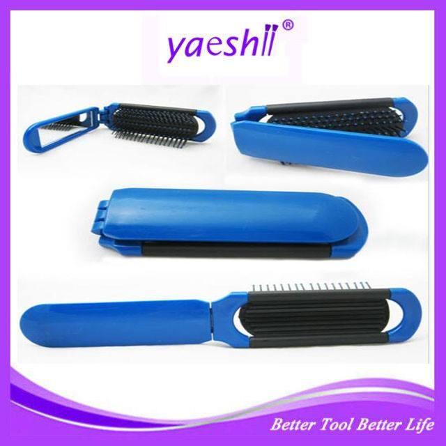 Yaeshii bolso Mini escova de cabelo dobrável com espelho/espelho com <span class=keywords><strong>pente</strong></span> de plástico de viagens