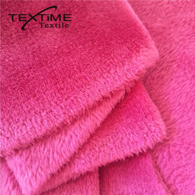 Calidad confiable textil felpa de pelo largo micro terciopelo 5000 Corea Precio de tela del juguete