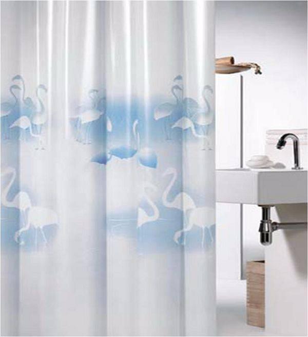 2015 tende moderne uccello cigno stampato peva tenda della doccia di lusso in stile europeo