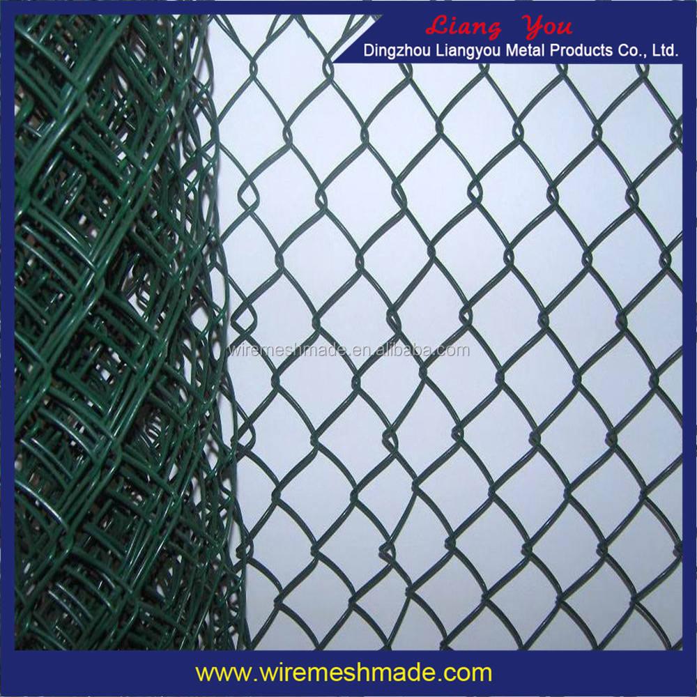 Chain link fence mesh utilizzato per la sicurezza esterna recinzione 3mm * 6 cm * 1.8 m