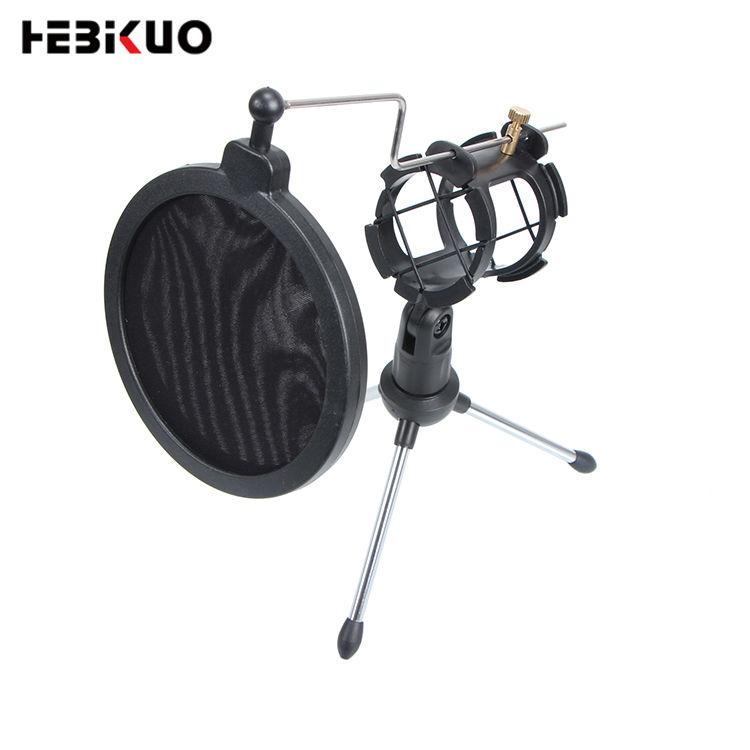 M610 Profissional preto suporte de mesa microfone boom foto