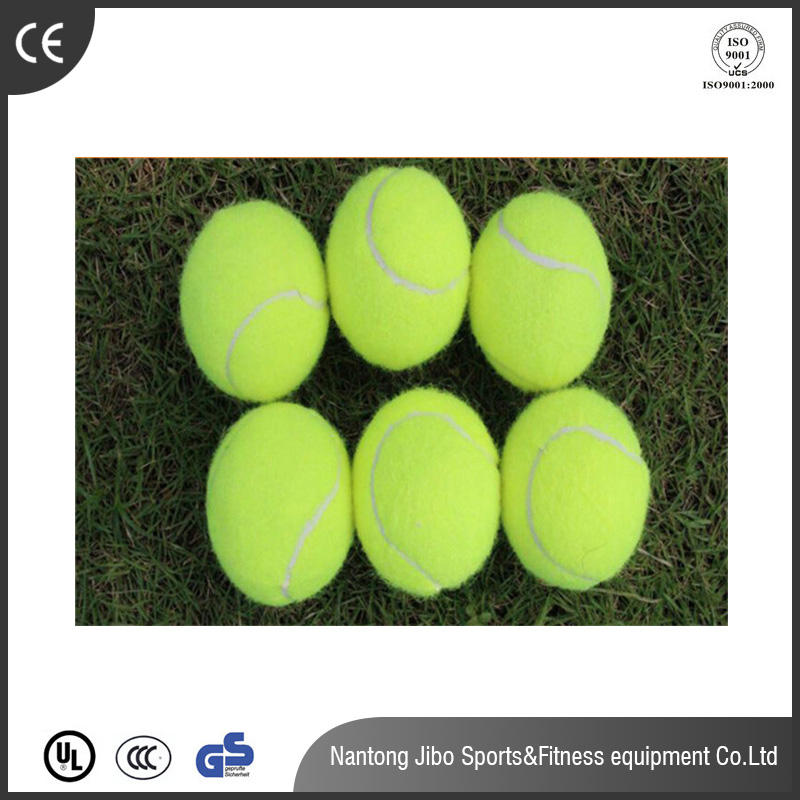 Laine surface bande de caoutchouc pratique chien jouets jaune balles de Tennis