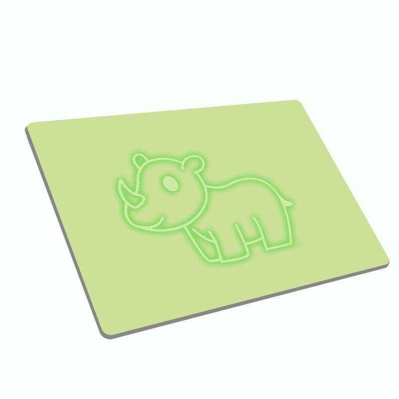 A4 versión mi primer dibujo tablero Pad resplandor fluorescente dibujo animador Doodle borrable escritura tablero de dibujo