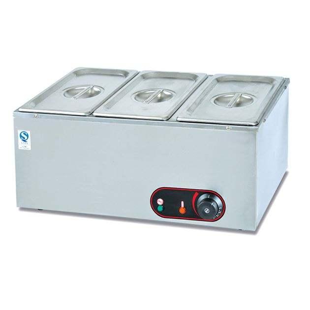 Counter-top 4 padelle elettrico bain marie/elettrico buffet/scaldabiberon riscaldatore