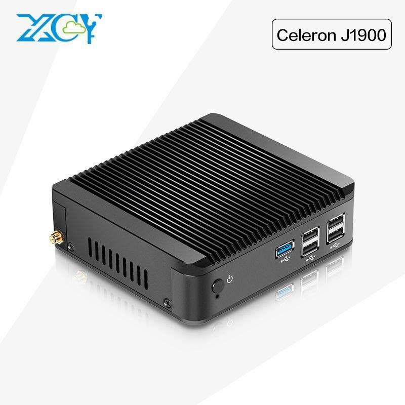 XCY Mini PC Celeron J1900 2 GHz Barebone fanless ordinateurs portables ordinateur <span class=keywords><strong>portable</strong></span> ordinateur de bureau