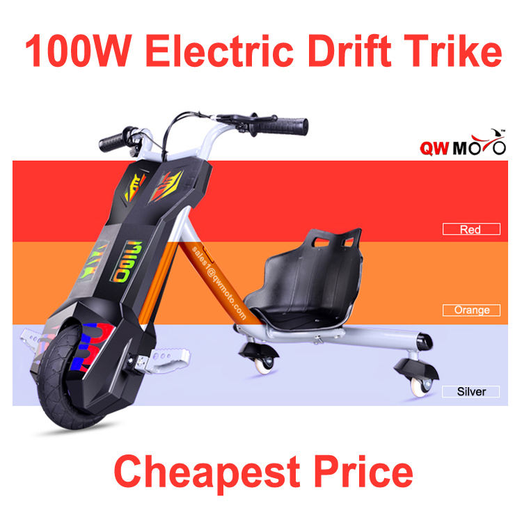 Nueva cheapest scooter eléctrico 100 W para niños drift trike 3 smart diapositiva bici trike