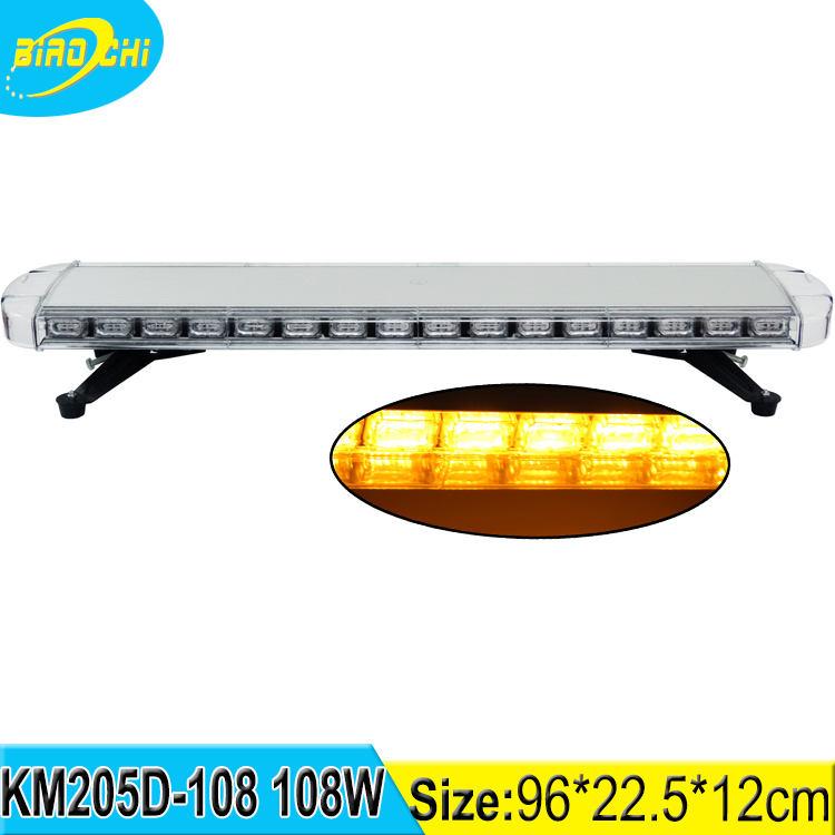 108 W 96 cm lineal indicador luces protección UV plata aluminio LED ámbar tamaño completo <span class=keywords><strong>advertencia</strong></span> barra <span class=keywords><strong>de</strong></span> <span class=keywords><strong>luz</strong></span>
