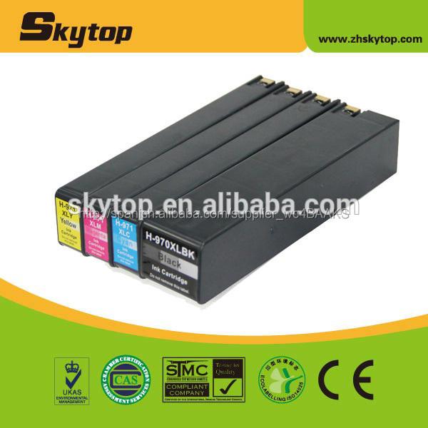 Caliente! Impresora compatible cartucho de tinta para <span class=keywords><strong>hp</strong></span> 970xl 971xl con el nivel de tinta mostrar el chip de tinta