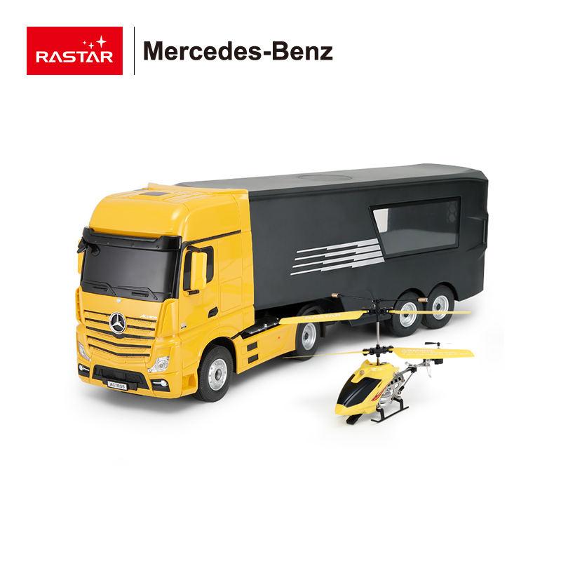 RASTAR <span class=keywords><strong>Mercedes</strong></span>-Benz <span class=keywords><strong>RC</strong></span> игрушка грузовик с вертолетом для продажи