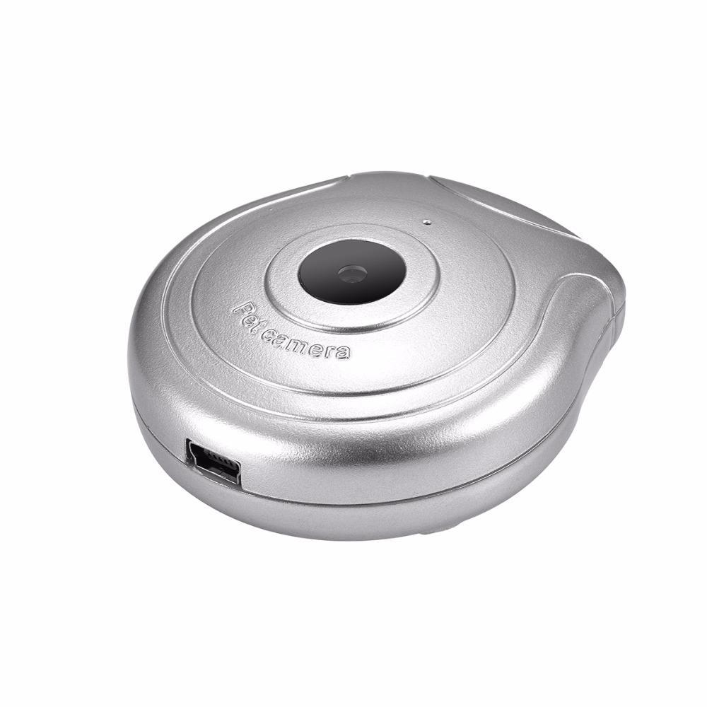 Мини <span class=keywords><strong>цифр</strong></span>овой ошейник Pet камеры видео и фото нашли время записи Встроенный литий-ионный аккумулятор max 32 ГБ серебро цвет