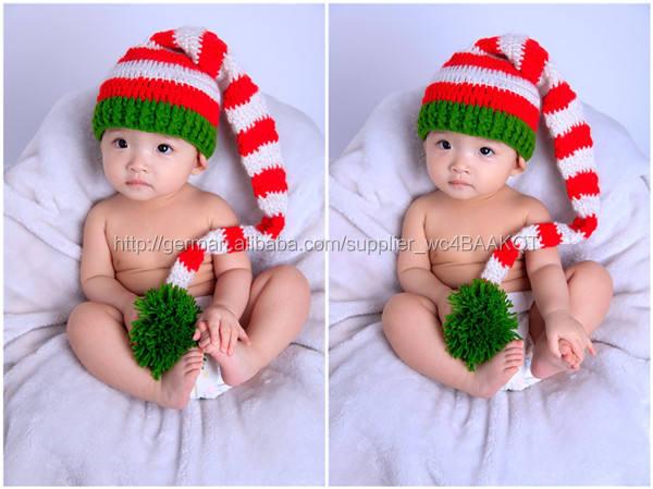 häkeln baby mütze <span class=keywords><strong>weihnachten</strong></span> <span class=keywords><strong>pixie</strong></span> foto prop rot weiß gestreiften