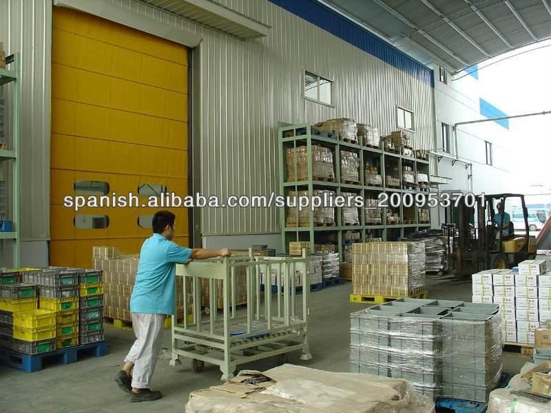 rápida puerta de persiana se utiliza en la fábrica de alimentos | fábrica de pescado utiliza la puerta de alta velocidad