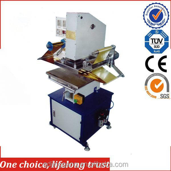 Tj-9 alimentación de un solo color y pnuematic generared máquina de sellado para el photoframe, marco de plástico y avión
