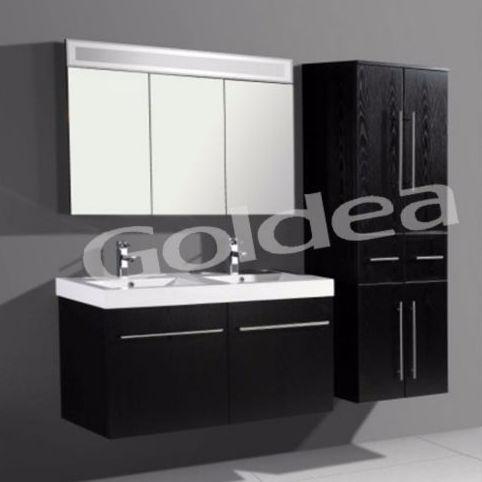 Buscando parceiros de negócios estilo real salão de mobiliário armário de parede do banheiro
