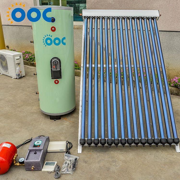Buen Precio baño tubo de calor de cobre concentrador, presión calentador de agua solar (150L)