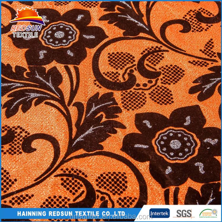 Yüksek kalite polyester akın nefes ezmek kadife kanepe kumaş