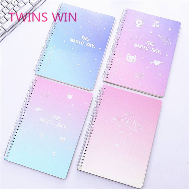 korean school and office supplies stationery items list with price personalised a5 spiral notebook get free samples 1166