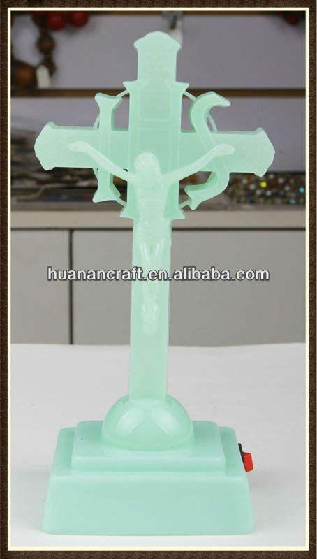 Hanan Christiancross iluminado de resina religiosas estatua de jesús