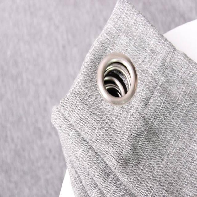 <span class=keywords><strong>China</strong></span> fabricante apagón europeo gris moderno Lino cortina de algodón