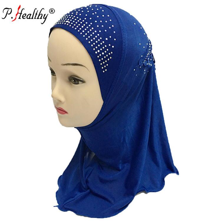 Venta al por mayor de moda musulmán bordado de poliéster bufanda de los niños de la ropa interior de los fabricantes en china