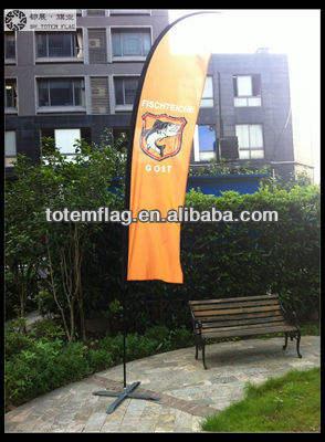 Personnalisé drapeau de plage avec 70x300cm 4.5m pôle