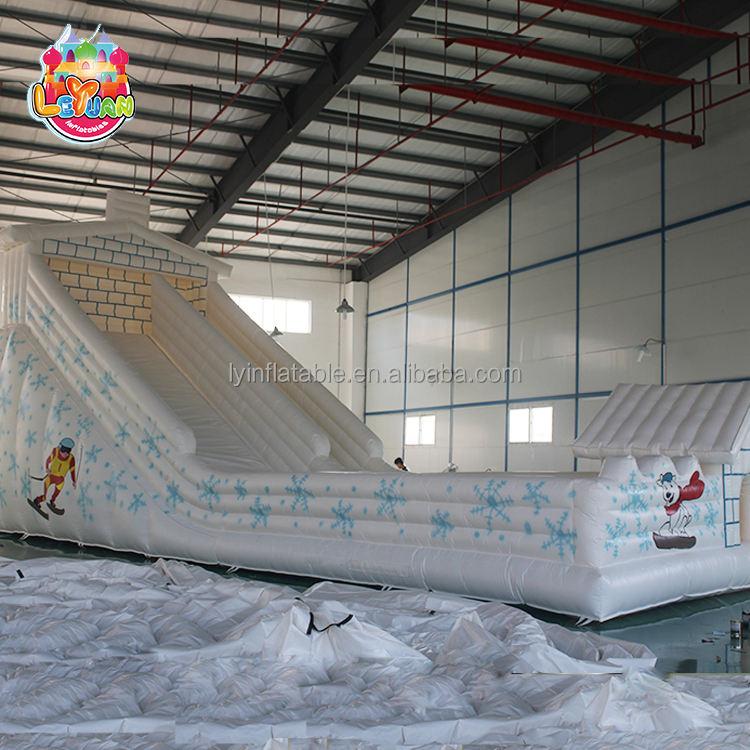 Nhà cung cấp chuyên nghiệp liệu PVC bền LED trượt tuyết theme trượt bơm hơi khổng lồ, inflatable trượt nhảy cho người lớn