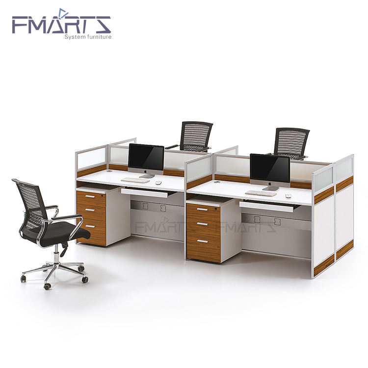 Moderne büromöbel modular partition bürozelle workstation