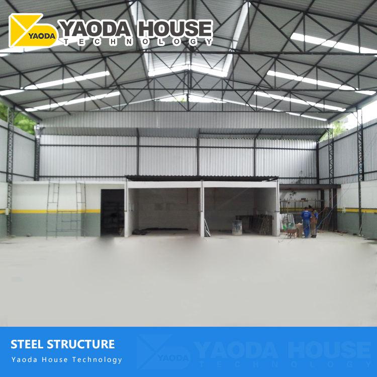 Chine bâtiment commercial matériel complet auto partie pièces active en métal structure entrepôt