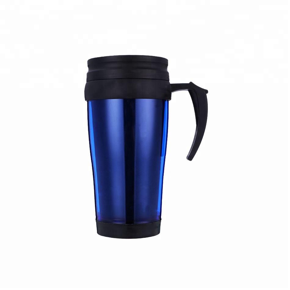 <span class=keywords><strong>Tasses</strong></span> de voiture en plastique avec poignée tasse de café en plastique réutilisable