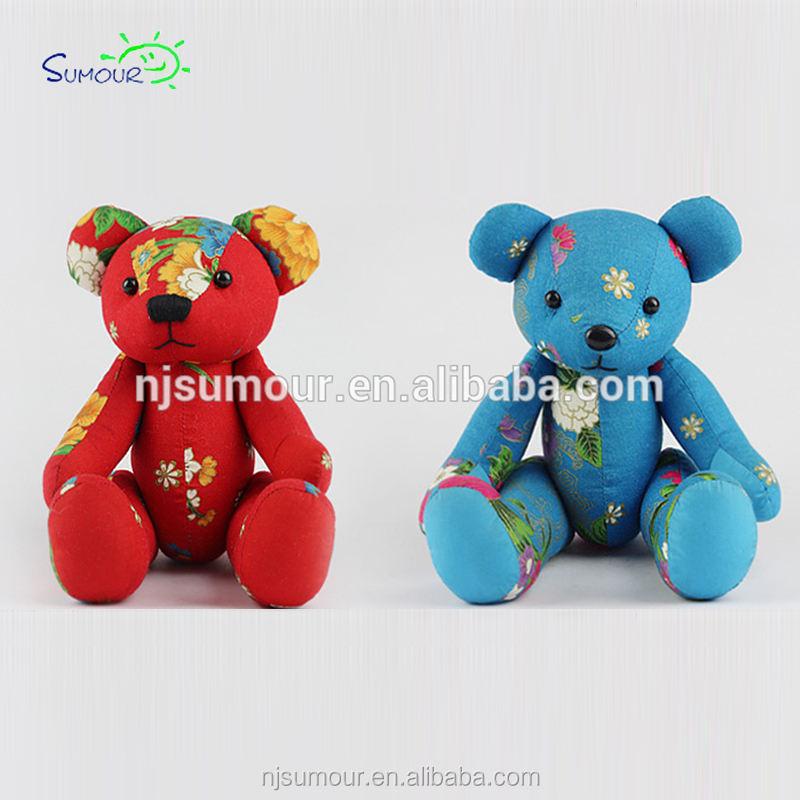 Peluche cina stile teddy bear farcito rosso cina teddy bear stampa teddy bear plush toy