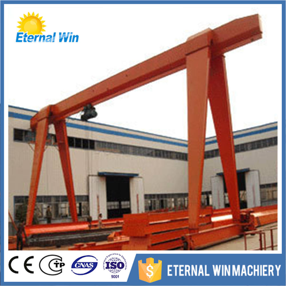 control panel gantry crane with warning light