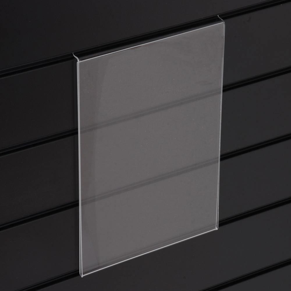 А4, Прозрачный Акриловый Знак Держатель для Slatwall Заказ Акрилового Slatwall Единый Буклет Дисплей