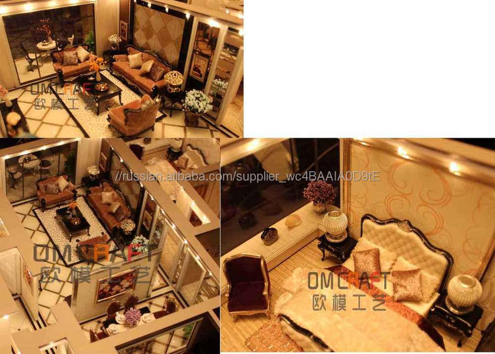 Дом дизайн интерьера модель / сборные дома модель / миниатюра жилой модель