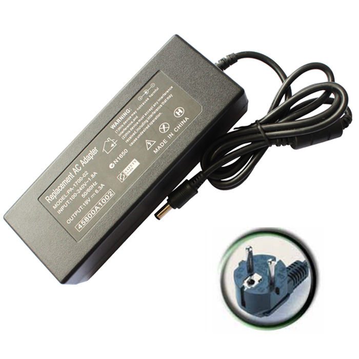 120 Wát Máy Tính Xách Tay Power Adapter 19 V 6.3A Power Adapter Sạc Cho Toshiba Satellite A70 A75 P30