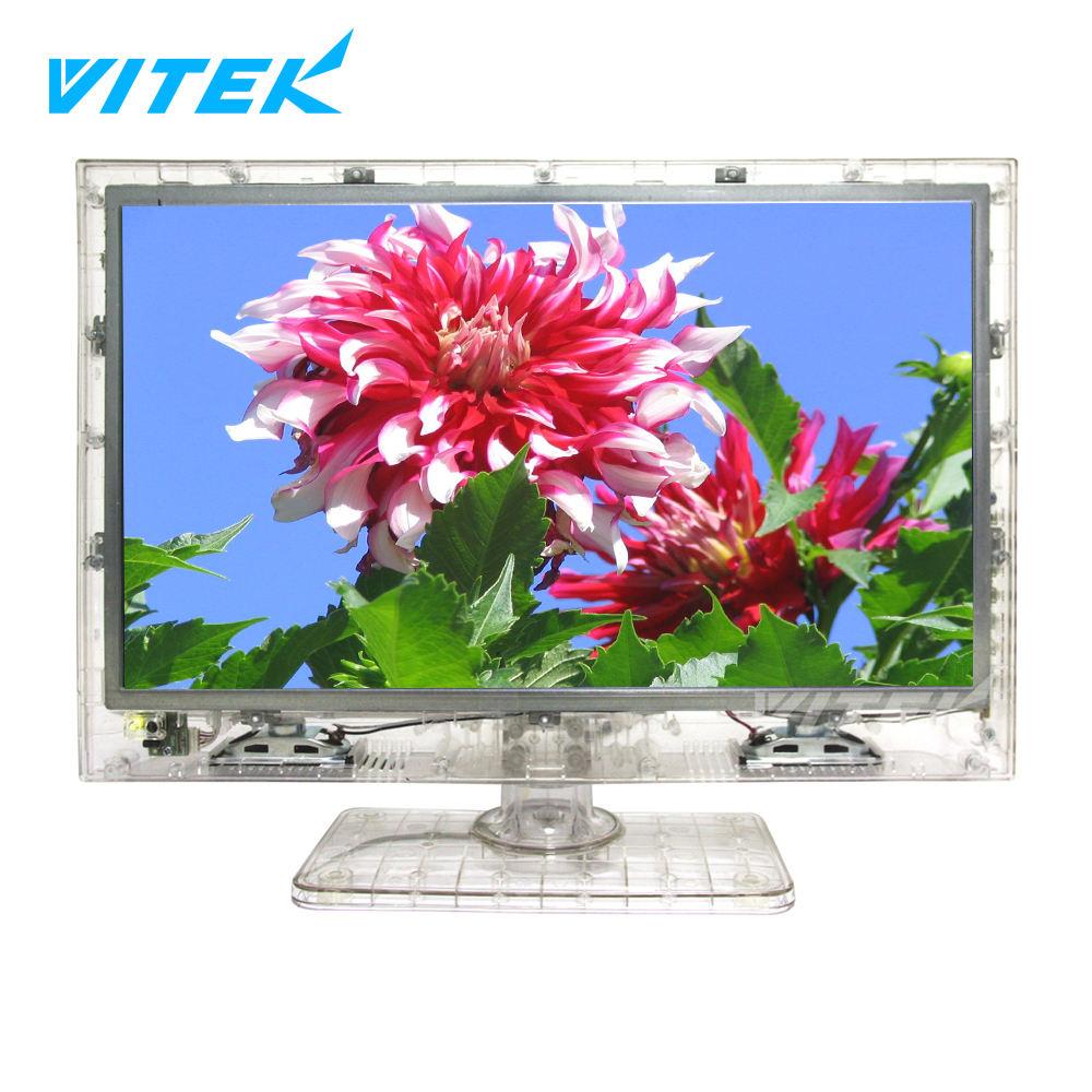 13.3 15.6 18.5 pouce Clair LCD LED Tech TV pour Prison Prison, construit en Carte D'alimentation Prix Prison Transparent TV