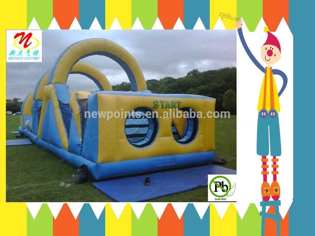 ao ar livre inflável obstáculo curso de aluguer para adultos e crianças