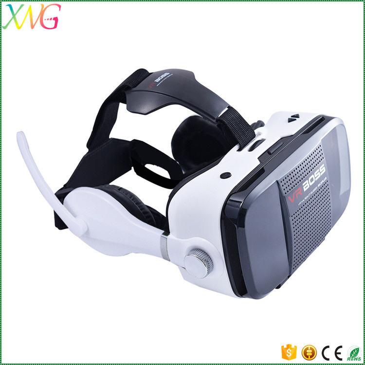 Venta caliente Más Nuevo caja vr Realidad Virtual 3d vidrios video todo en uno VR JEFE Z5