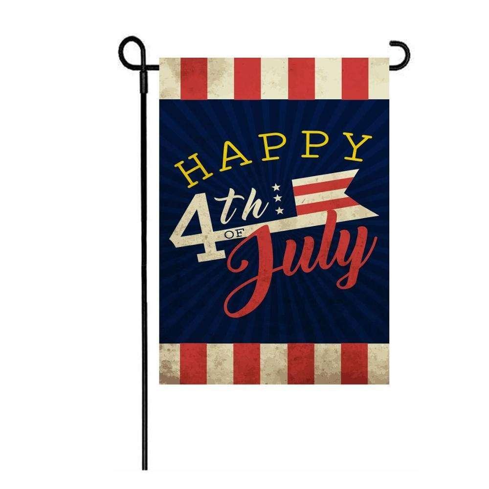 Прочный 12*18 дюймов пользовательские Крытый и открытый украшения дома 4 июля сад флаг печати баннер стенд