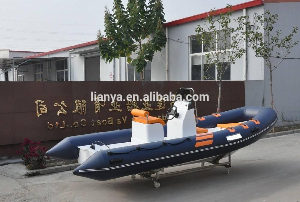 Liya 5.2 m de fondo plano barcos venta casco rígido de fibra de vidrio bote inflable