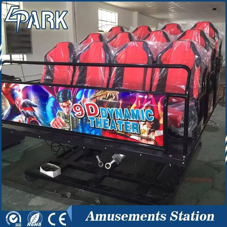 Excelente calidad móvil flexible 5D cine 5D cine asiento 4d/5d/6d teatro