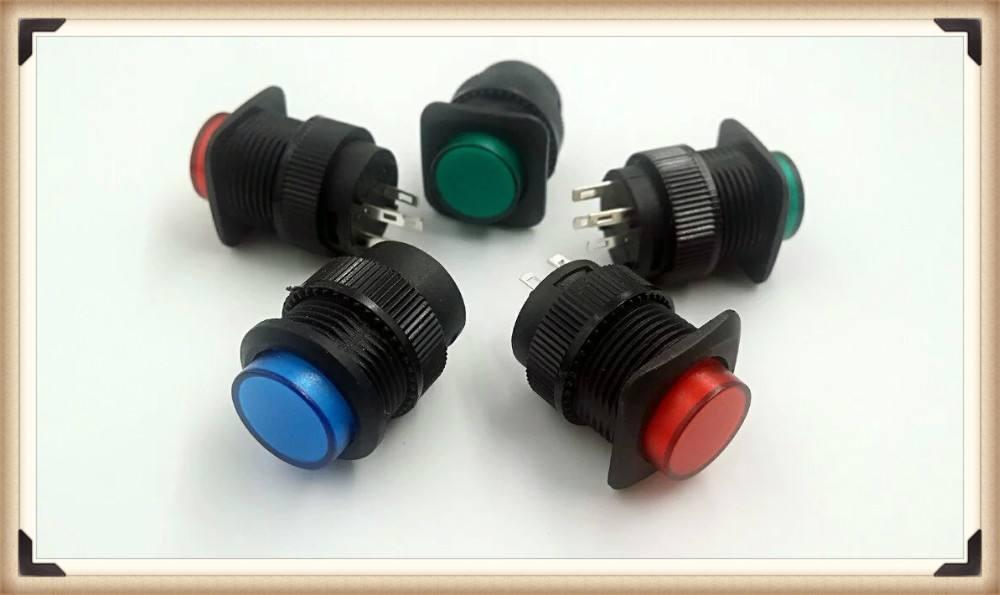 19mm RGB <span class=keywords><strong>Güç</strong></span> Sembolü LED 12V Push Button Metal ON / Kapama Anahtarı