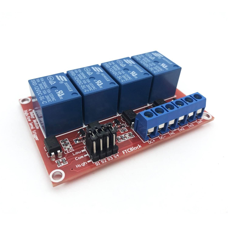 4 canali DC <span class=keywords><strong>12</strong></span> V Modulo di Relè della manica con Accoppiatore Ottico H/L Livello di Trigger Per Il PIC <span class=keywords><strong>AVR</strong></span> DSP ARM Arduino