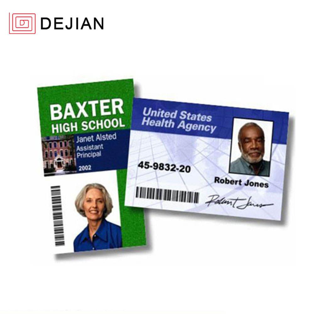 DEJIAN ID Card Pvc Paper 125 키로헤르쯔 TK4100 은행 직원 ID Card