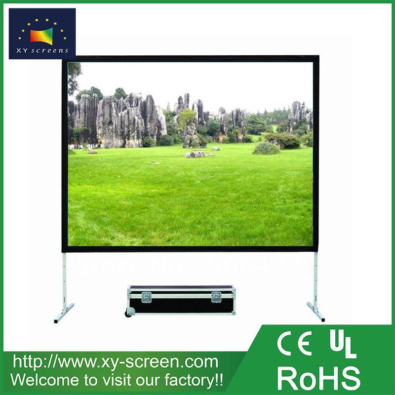 XYSCREEN 80 pollice regolabile doppio lato tessuto piega veloce di proiezione schermo del proiettore