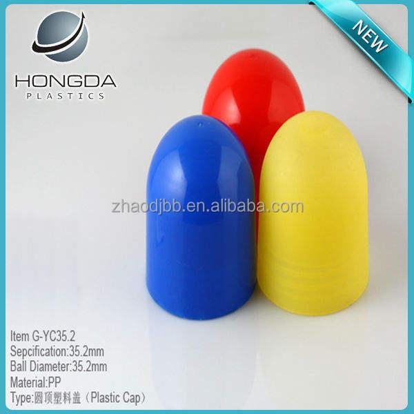 Cabeça redonda plana tampa de plástico colorido