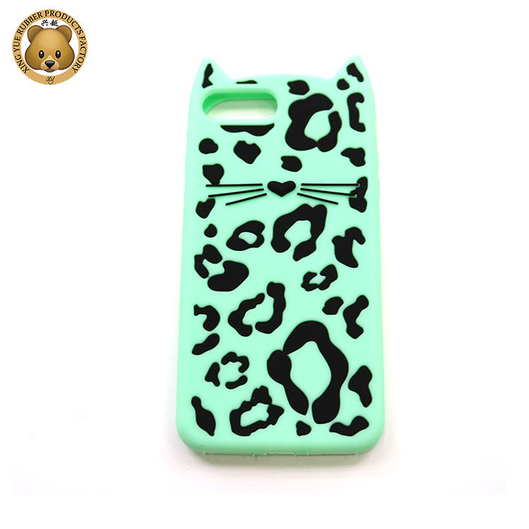 Big Seal silicone phone case lovely animals panther pattern 3D shockproof phone case for iphone 6 7 8