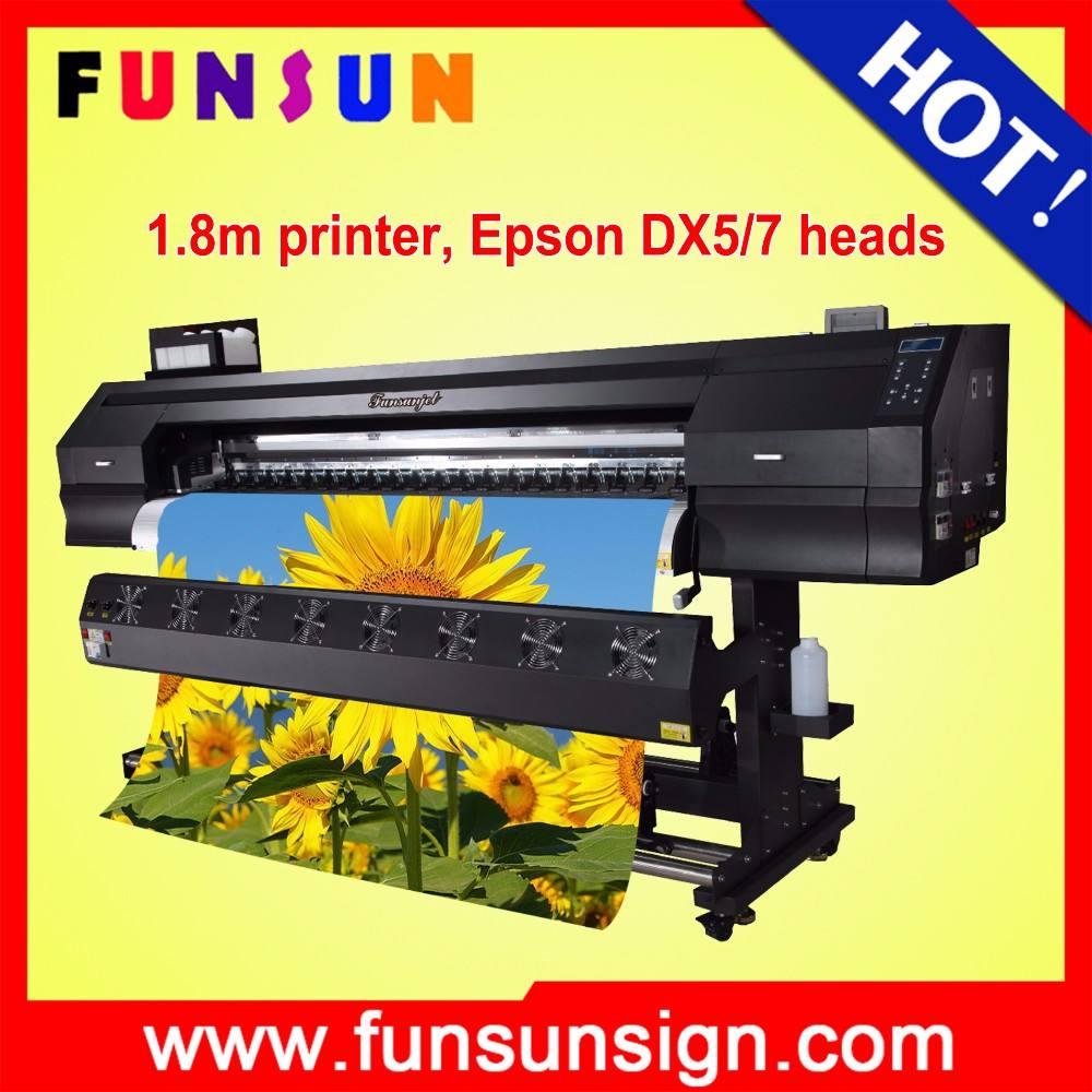 Funsunjet FS-1802K 1.8 м 6ft 1440 точек/дюйм отображает печатная машина для даты и времени